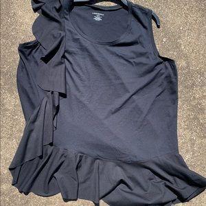 Lane Bryant sleeveless black top